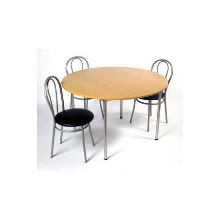 STB TABLE CAFET RONDE HETRE ALU TCRON32