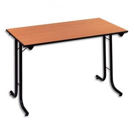 STB TABLE POLYV RECT PLIANTE TPMR HETRE