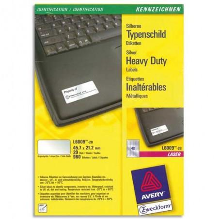 AVE B/960 ETQ LSR METAL 45.7X21 L6009-20