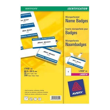 AVE PC/200ETIQ PR BADGES 86X55 L7418