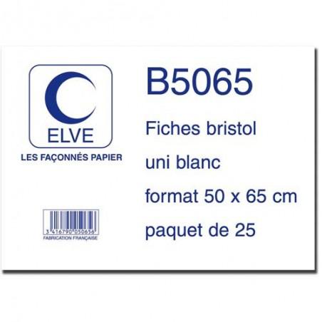 ELV S/25 FICHE BRISTOL 50X65 BLANC B5065