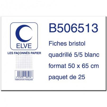 ELV S/25 FICHE BRISTOL 50X65 5X5 B506513