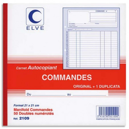ELV CARN COMMANDE ATCP 21X21CM 50/2 2109
