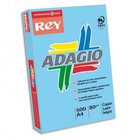 INA R/500F ADAG A4 80G BLEU VIF 8001557