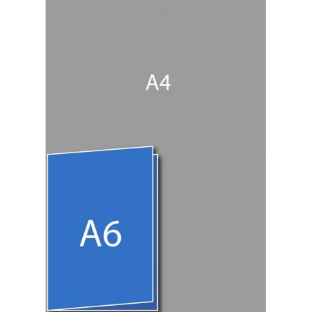 Dépliant A6 (A5 plié en deux)