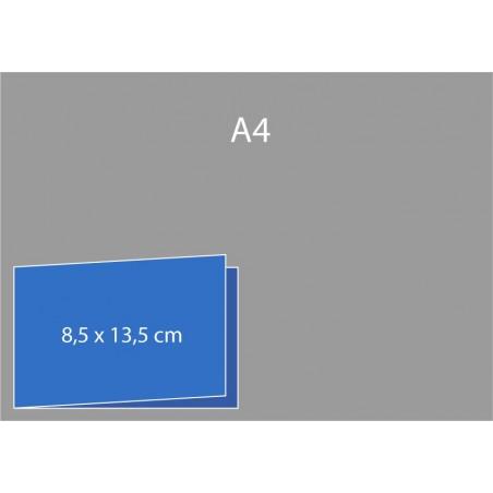 Cartes de visite pliées (bord court) 8,5 x 13,5 cm