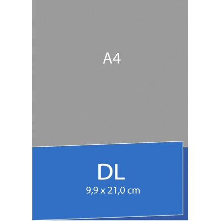 Cartes de visite pliées (bord court) 9,9 x 21 cm