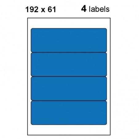 Etiquettes adhésives brillantes 192x61mm