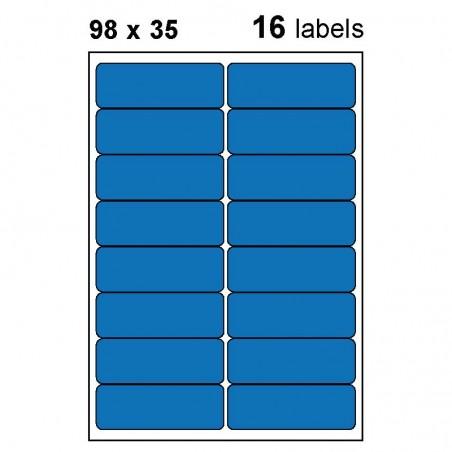 Etiquettes adhésives brillantes 98x35mm