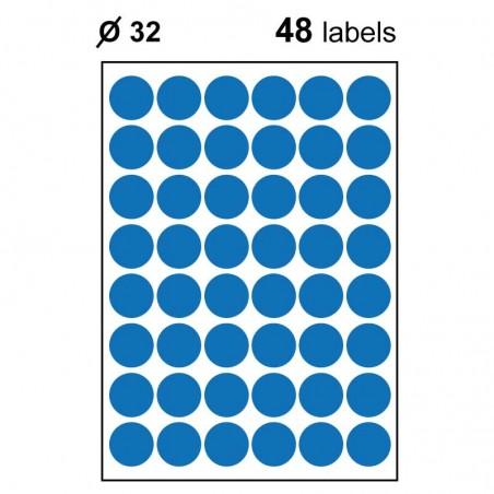 Etiquettes adhésives brillantes rondes 32mm