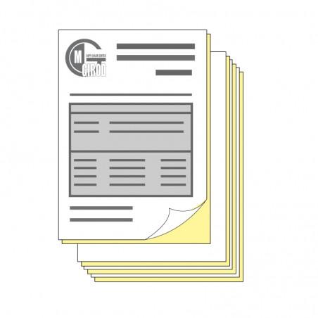 Folios autocopiants duplicata A4 impression noire