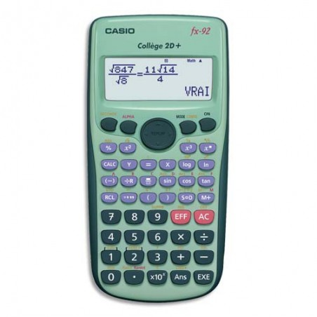 CAS CALCUL SCIENTIFIQ FX92 SPECOL-S1-EH-